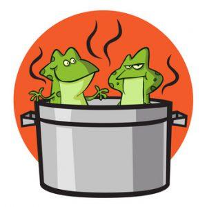 Rheuma - Symptome betrachten - der Frosch im Kochtopf